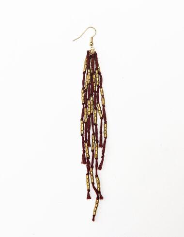 Terracota thread earrings - View all > - Nícoli