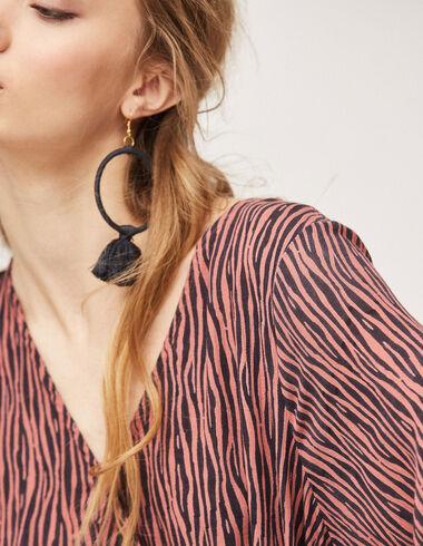 Boucles d'oreilles pompon anthracite femme - Accesoires - Nícoli