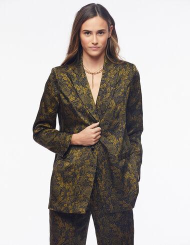 Green floral print blazer - View all > - Nícoli
