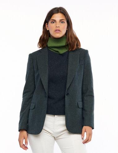 Blue tweed blazer - View all > - Nícoli