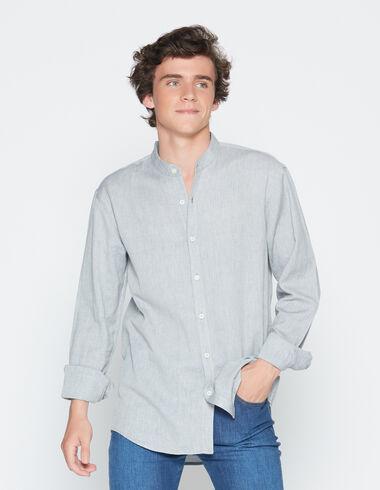 Boy's herringbone mandarin collar shirt - View all > - Nícoli