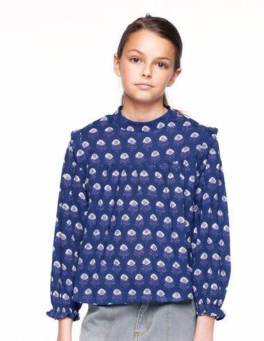 Camisa cuello mao buti azul - Ver todo > - Nícoli