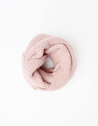 Echarpe tube rose point jersey - Voit tout > - Nícoli