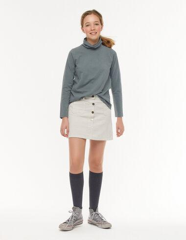 Falda botones pana crudo - Faldas - Nícoli