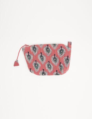 Porte-monnaie feuilles fraise - Porte-monnaie - Nícoli