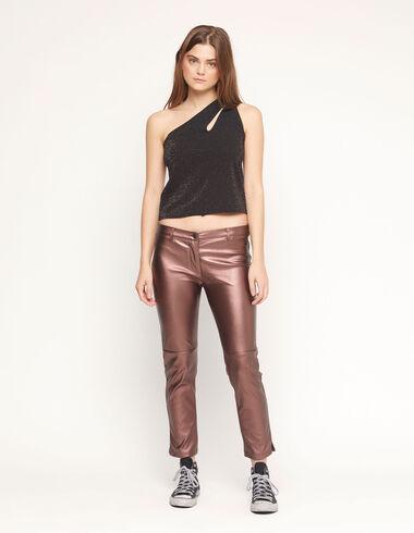 Bronze straight leg trousers - Woman - Nícoli