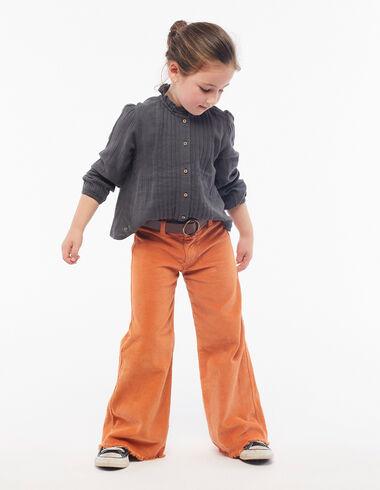 Pantalon large velours orange - Voit tout > - Nícoli