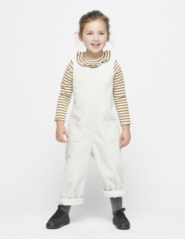 Off-white corduroy jumpsuit - View all > - Nícoli
