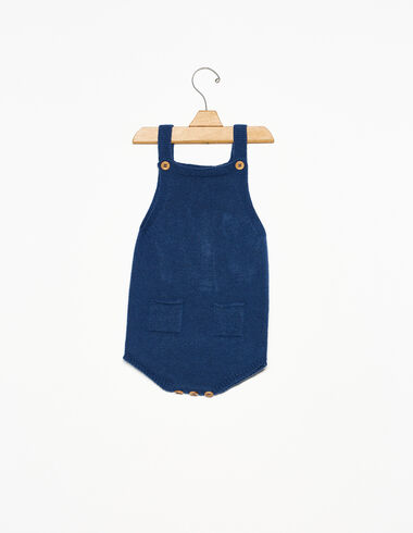 Blue playsuit with pockets - View all > - Nícoli