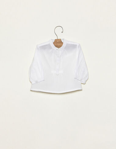 White long sleeved t-shirt - View all > - Nícoli