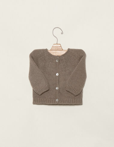 Taupe cardigan with buttons - View all > - Nícoli