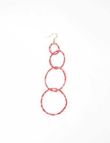 Multicoloured pink hoop earrings - Earrings - Nícoli