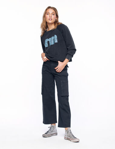 Anthracite cargo trousers - View all > - Nícoli