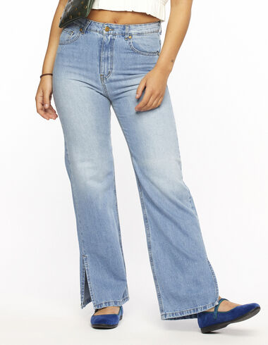 Pantalon wide leg jean - Denim - Nícoli