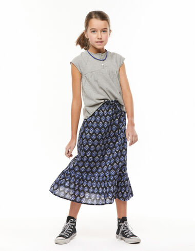 Anthracite buti long ruffle skirt - View all > - Nícoli