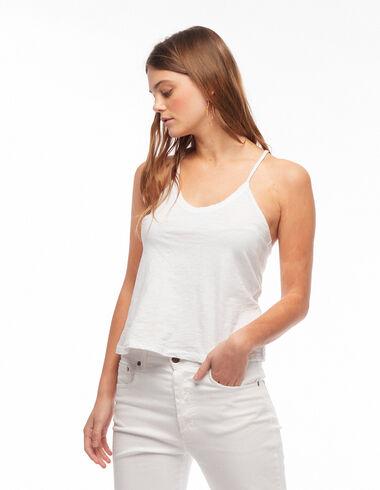 Top espalda cruzada blanco - Camisetas - Nícoli