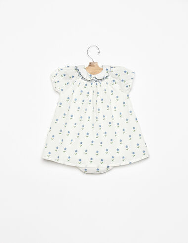 Little blue flower print dress - View all > - Nícoli