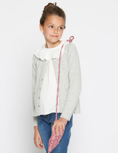 Girl's gray cardigan with pockets - View all > - Nícoli