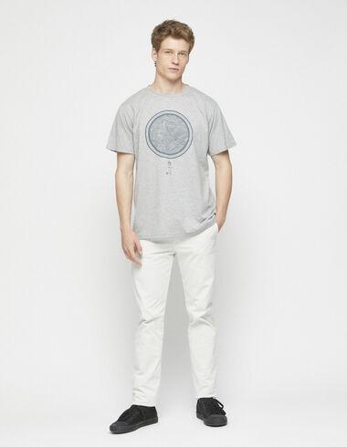 Pantalon chino écru - Collection - Nícoli