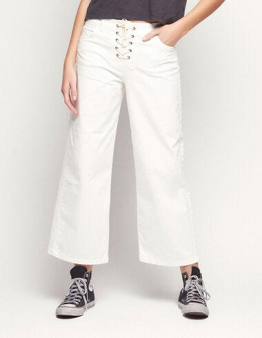 Pantalón ancho cordón blanco - Ver todo > - Nícoli