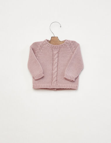 Pink cable-knit jumper - View all > - Nícoli