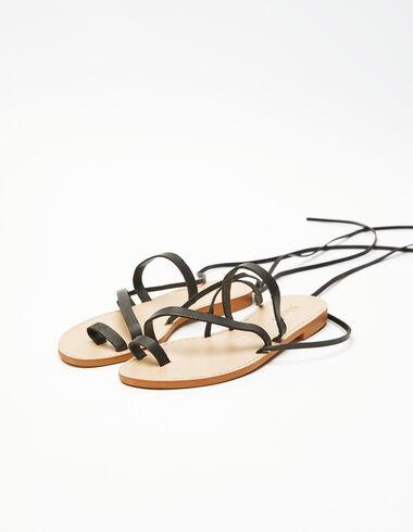 Black strap sandal - Gift Ideas By Isabelle Dubrulle - Nícoli