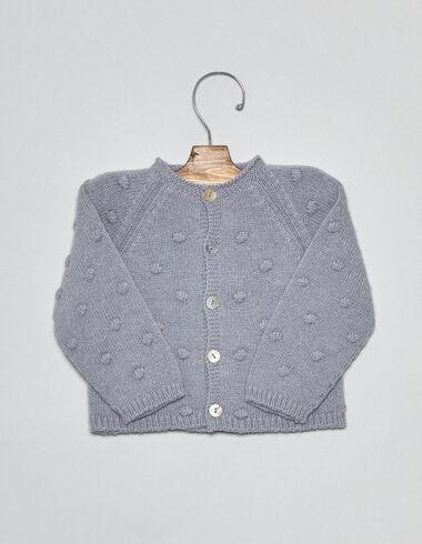 Lavender bobble baby cardigan - Cardigans - Nícoli