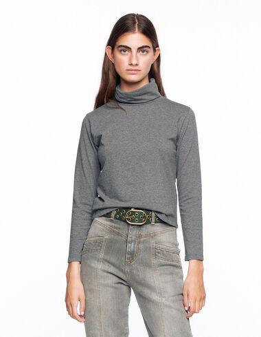 T-shirt col roulé gris - Voir tout > - Nícoli