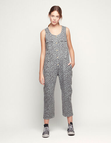 Light green animal print jumpsuit - Special prices - Nícoli