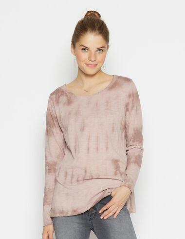 T-shirt tie dye rose pour filles - Tee shirts - Nícoli