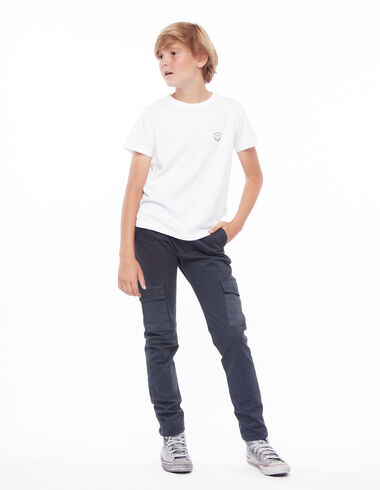 Long anthracite chinos with pockets - Trousers - Nícoli