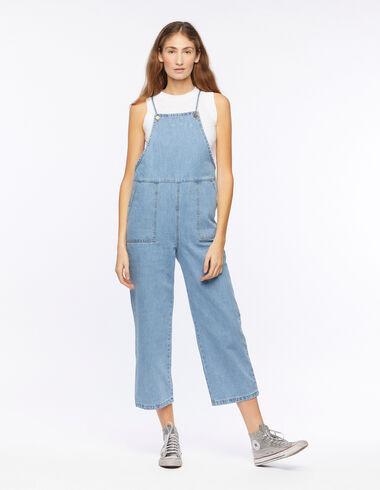 Salopette bretelles poches bleue - Denim - Nícoli