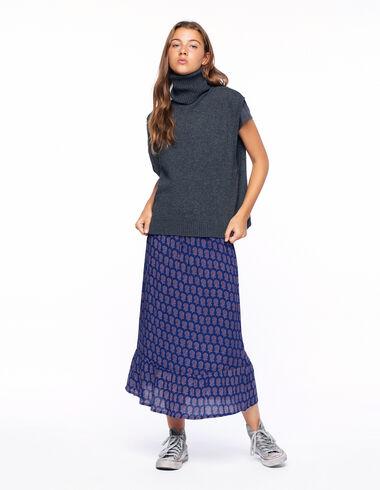 Falda larga flor buti mora - Faldas - Nícoli