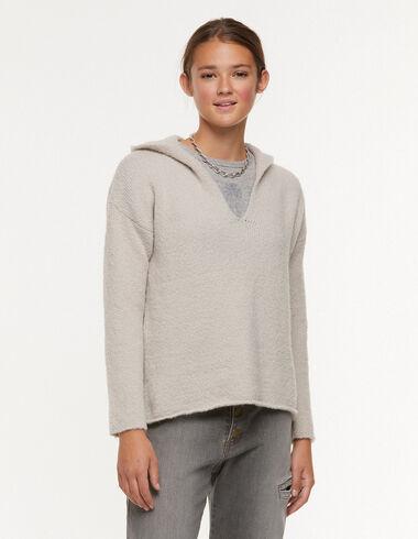 Ecru hooded jumper - Jumpers & Sweatshirts - Nícoli