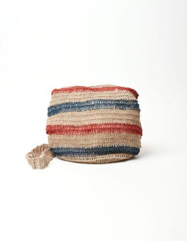 Bolso saco rafia rayas caldero/azul - Ver todo > - Nícoli