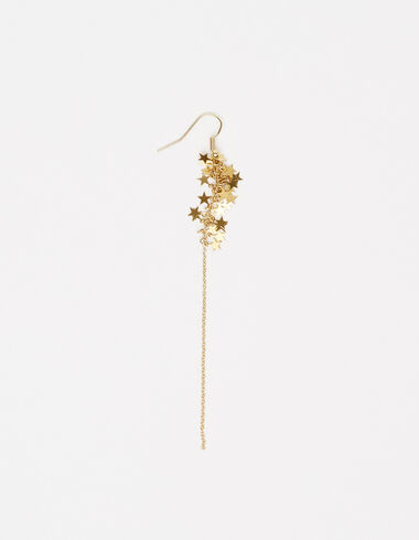 Long stars earrings in gold tone - View all > - Nícoli