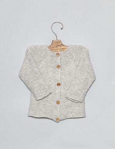 Light grey baby cardigan - View all > - Nícoli