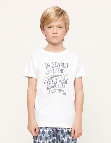 Camiseta solidaria 'wave' blanca - Ver todo > - Nícoli
