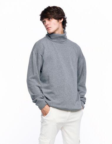 Grey turtleneck jumper - View all > - Nícoli