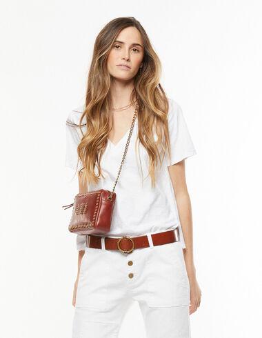 Camiseta cuello pico blanca - Camisetas - Nícoli