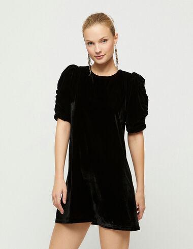 Robe en velours noir - Collection de Noël - Nícoli