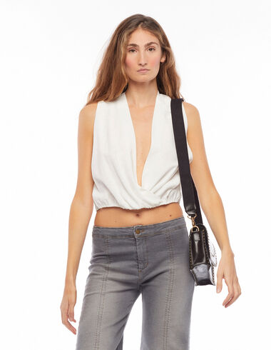 White cross back top - View all > - Nícoli