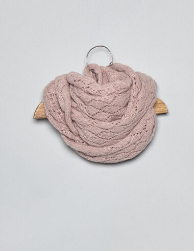 Pink drop stitch baby scarf - View all > - Nícoli