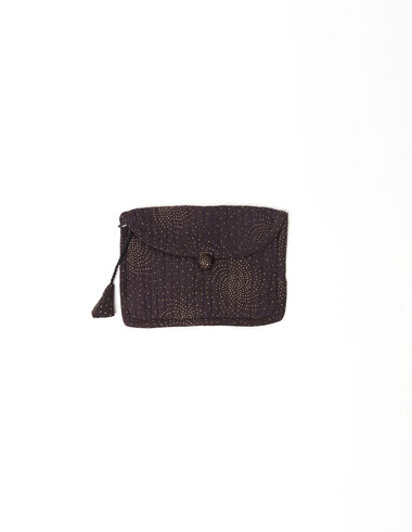 Anthracite spiral coin purse - Basics to put your life in order - Nícoli