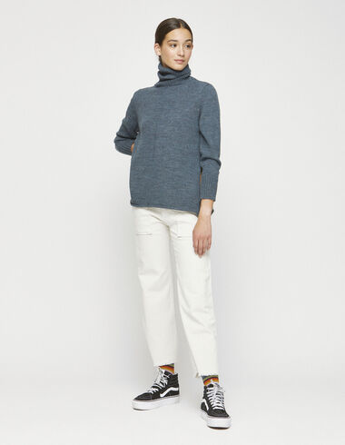 Off-white corduroy straight leg trousers with pockets - Trousers - Nícoli
