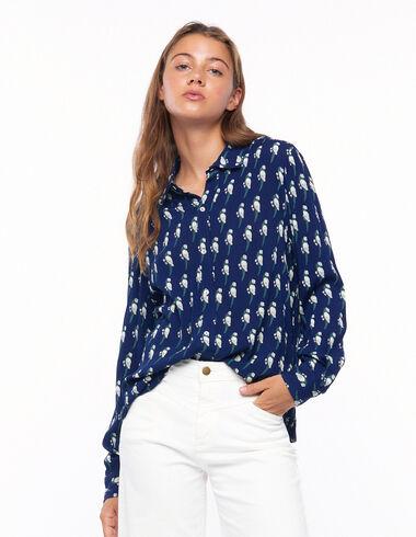 Chemise col en V perroquets bleue - Voir tout > - Nícoli
