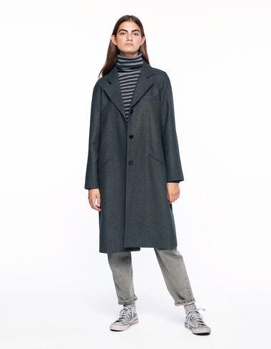 Manteau long tweed bleu - Voir tout > - Nícoli