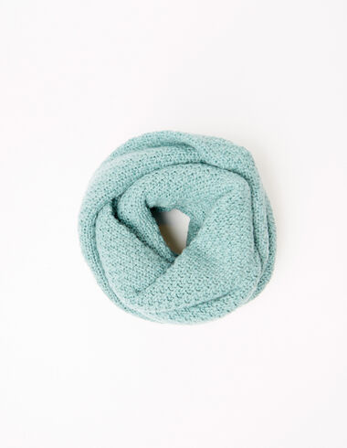 Cuello bufanda punto verde claro - Ver todo > - Nícoli