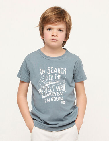 Camiseta solidaria 'wave' azul - Traspasos (se oculta) - Nícoli