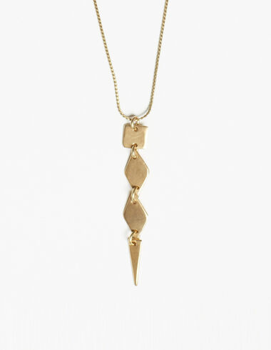 Rhombus necklace in gold tone - View all > - Nícoli